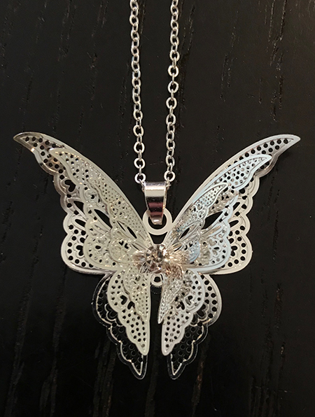 Necklace 3D Butterfly Front